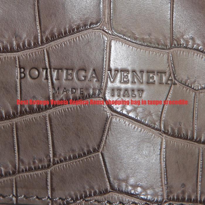 Best Bottega Veneta Replica Roma shopping bag in taupe crocodile ... 99c94c33435b9