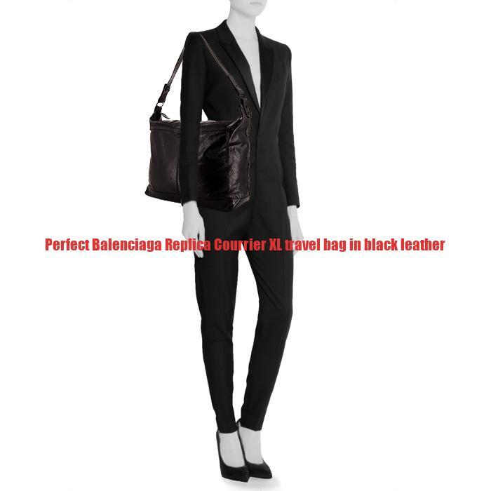 93d6b203c18a Perfect Balenciaga Replica Courrier XL travel bag in black leather –  Replica Designer Handbags