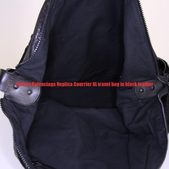 edefcf3639e Perfect Balenciaga Replica Courrier XL travel bag in black leather ...