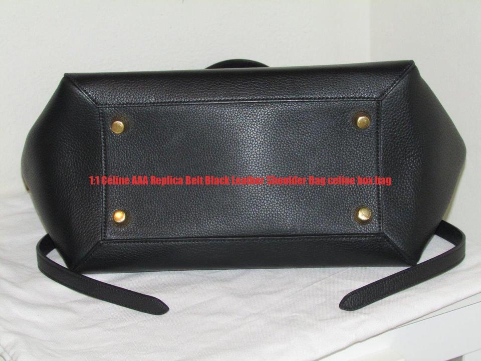1 1 Céline AAA Replica Belt Black Leather Shoulder Bag celine box ... 035e5ebe4c157