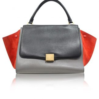 0d1b47304ef6 You're viewing: The Best Céline Mirror Trapeze Medium In Tricolor Suede  Wings Grey Calfskin Leather Tote celine nano bag £1,015.00